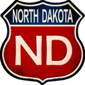 North Dakota Highway Shield Wholesale Novelty Metal Magnet