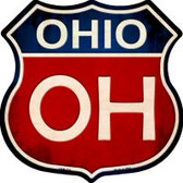 Ohio Highway Shield Novelty Metal Magnet