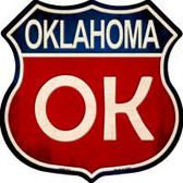 Oklahoma Highway Shield Wholesale Novelty Metal Magnet HSM-531
