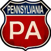 Pennsylvania Highway Shield Novelty Metal Magnet
