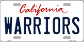 Warriors California Novelty State Background Wholesale Metal License Plate LP-2571