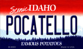 Pocatello Idaho State Background Wholesale Metal Novelty Magnet