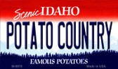 Potato Country Idaho State Background Wholesale Metal Novelty Magnet