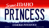 Princess Idaho State Background Wholesale Metal Novelty Magnet