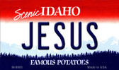 Jesus Idaho State Background Wholesale Metal Novelty Magnet