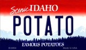 Potato Idaho State Background Wholesale Metal Novelty Magnet