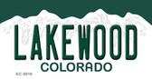 Lakewood Colorado Background Wholesale Metal Novelty Key Chain