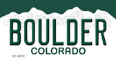 Boulder Colorado Background Wholesale Metal Novelty Key Chain