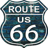 Route 66 Blue Brick Wall Wholesale Metal Novelty Highway Shield