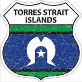 Torres Strait Islands Flag Highway Shield Novelty Metal Magnet