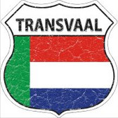 Transvaal Flag Highway Shield Novelty Metal Magnet