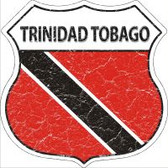 Trinidad Tobago Flag Highway Shield Novelty Metal Magnet