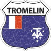 Tromelin Flag Highway Shield Novelty Metal Magnet