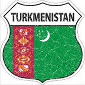 Turkmenistan Flag Highway Shield Novelty Metal Magnet