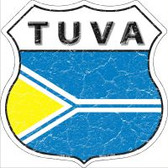 Tuva Flag Highway Shield Novelty Metal Magnet