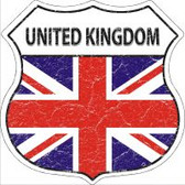 United Kingdom Flag Highway Shield Novelty Metal Magnet