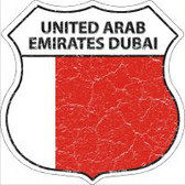 United Arab Emirates Dubai Flag Highway Shield Novelty Metal Magnet
