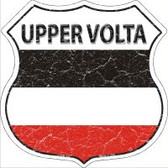Upper Volta Flag Highway Shield Novelty Metal Magnet