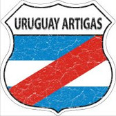 Uruguay Artigas Flag Highway Shield Novelty Metal Magnet