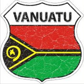 Vanuatu Flag Highway Shield Novelty Metal Magnet