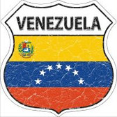 Venezuela Flag Highway Shield Novelty Metal Magnet