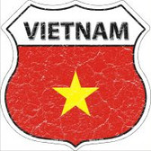 Vietnam Flag Highway Shield Novelty Metal Magnet
