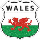 Wales Flag Highway Shield Novelty Metal Magnet