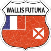 Wallis Futuna Flag Highway Shield Novelty Metal Magnet