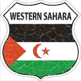 Western Sahara Flag Highway Shield Novelty Metal Magnet