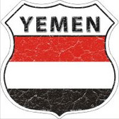 Yemen Flag Highway Shield Novelty Metal Magnet
