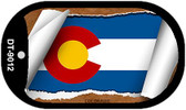 """Colorado State Flag Scroll Dog Tag Kit 2"""" Wholesale Metal Novelty Necklace"""