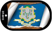 """Connecticut State Flag Scroll Dog Tag Kit 2"""" Wholesale Metal Novelty Necklace"""