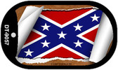 """Confederate State Flag Scroll Dog Tag Kit 2"""" Wholesale Metal Novelty Necklace"""