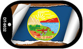 """Montana State Flag Scroll Dog Tag Kit 2"""" Wholesale Metal Novelty Necklace"""