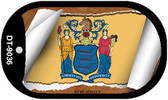 """New Jersey State Flag Scroll Dog Tag Kit 2"""" Wholesale Metal Novelty Necklace"""