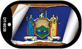 """New York State Flag Scroll Dog Tag Kit 2"""" Wholesale Metal Novelty Necklace"""