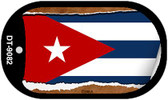"""Cuba Country Flag Scroll Dog Tag Kit 2"""" Wholesale Metal Novelty Necklace"""