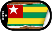 """Togo Flag Country Flag Scroll Dog Tag Kit 2"""" Wholesale Metal Novelty Necklace"""