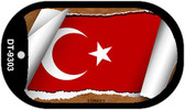 """Turkey Flag Country Flag Scroll Dog Tag Kit 2"""" Wholesale Metal Novelty Necklace"""