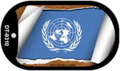 """United Nations Flag Country Flag Scroll Dog Tag Kit 2"""" Wholesale Metal Novelty Necklace"""