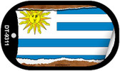 """Uruguay Flag Country Flag Scroll Dog Tag Kit 2"""" Wholesale Metal Novelty Necklace"""