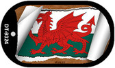 """Wales Flag Country Flag Scroll Dog Tag Kit 2"""" Wholesale Metal Novelty Necklace"""