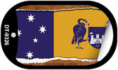 """Australian Capital Flag Country Flag Scroll Dog Tag Kit 2"""" Wholesale Metal Novelty Necklace"""