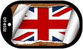 """Britain Flag Country Flag Scroll Dog Tag Kit 2"""" Wholesale Metal Novelty Necklace"""