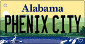Phenix City Alabama Background Wholesale Metal Novelty Key Chain KC-9992