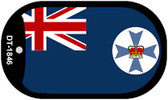 "Queensland Flag Country Flag Dog Tag Kit 2"" Wholesale Metal Novelty Necklace"
