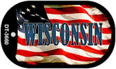 """Wisconsin Dog Tag Kit 2"""" Wholesale Metal Novelty Necklace"""