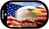 "Freedom Eagle American Flag Dog Tag Kit 2"" Wholesale Metal Novelty Necklace"