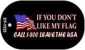 "If you don't like my flag Dog Tag Kit 2"" Wholesale Metal Novelty Necklace"