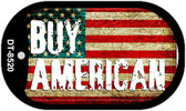 "Buy American Dog Tag Kit 2"" Wholesale Metal Novelty Necklace"